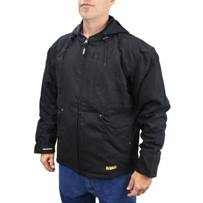 Men's Large 20-Volt MAX XR Lithium Ion Black Heated Heavy Duty Jacket kit with 20Ah Battery and Charger