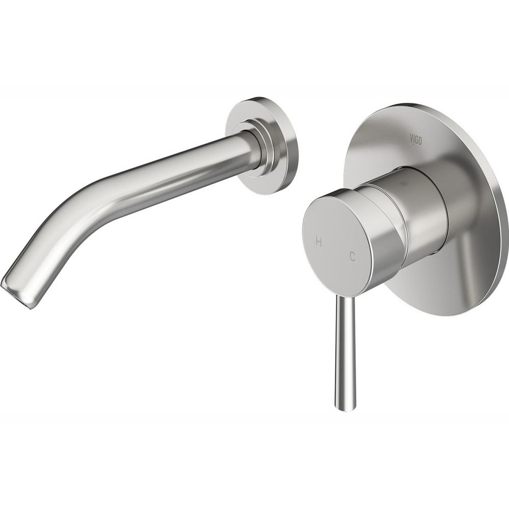 VIGO Olus Single-Handle Wall-Mount Vessel Bathroom Faucet in Brushed Nickel