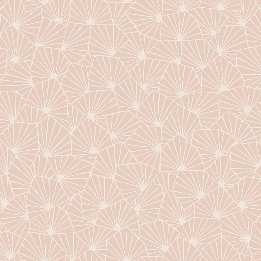 57.8 sq. ft. Blomma Apricot Geometric Wallpaper