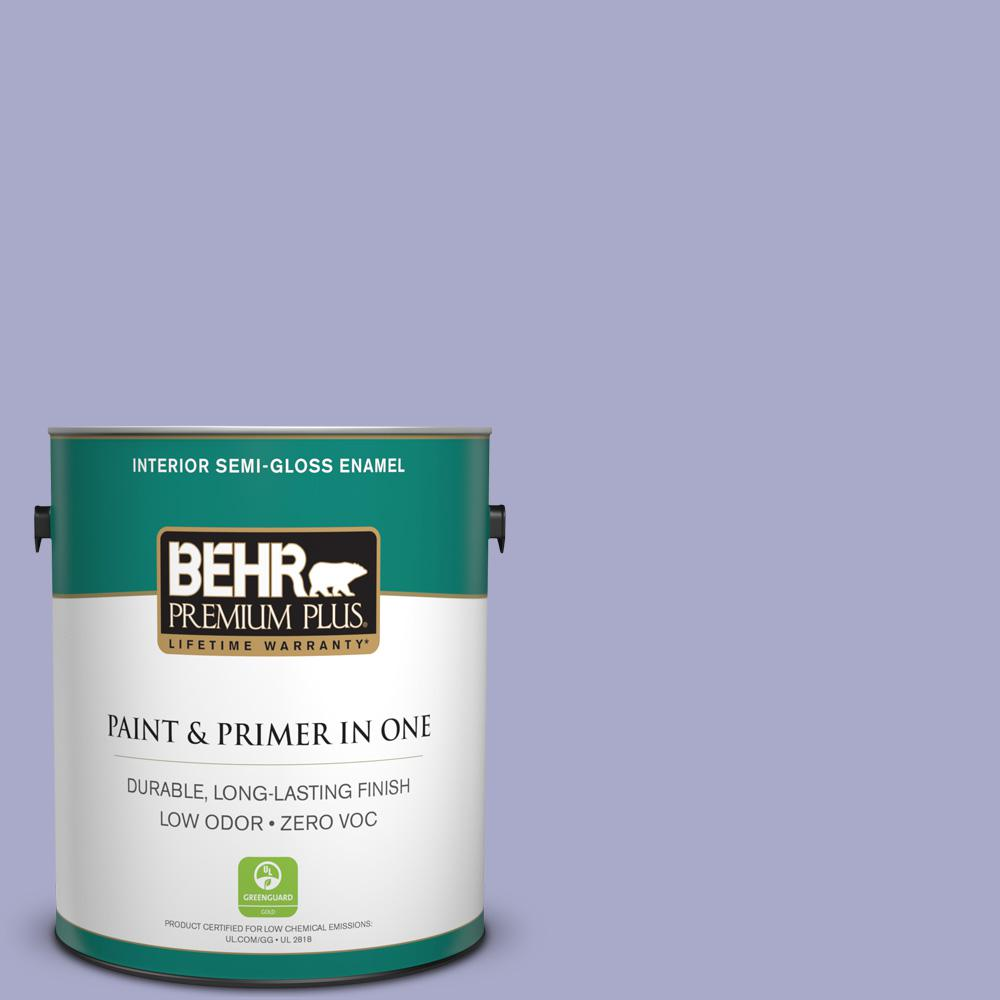 1-gal. #M550-4 Wisteria Blue Semi-Gloss Enamel Interior Paint