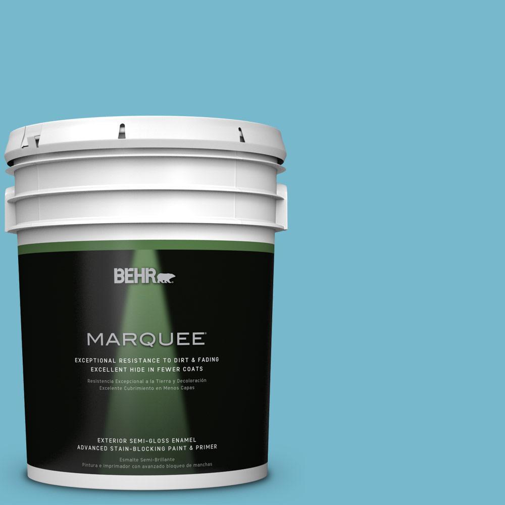 5-gal. #M480-4 Below Zero Semi-Gloss Enamel Exterior Paint