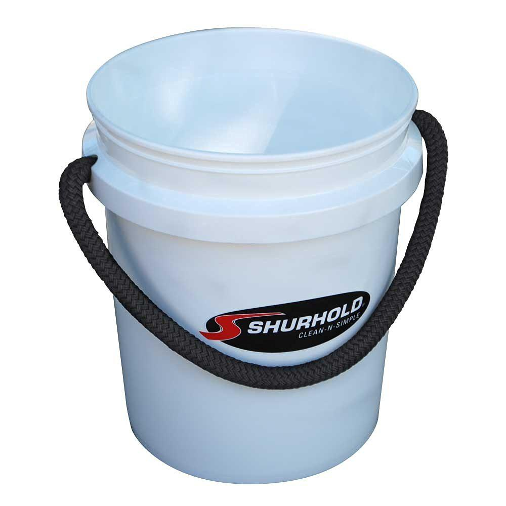 5 Gal. White Bucket with Rope Handle