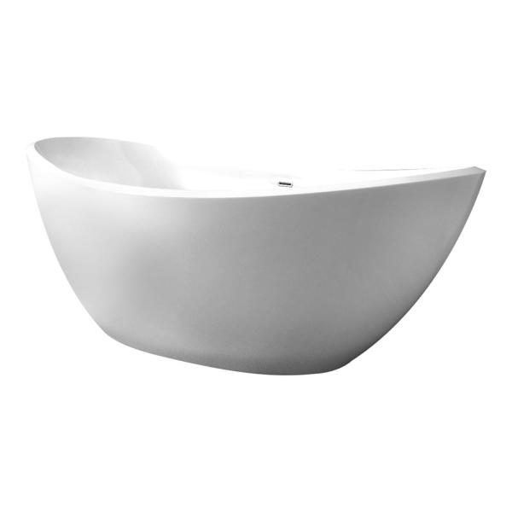 75 in. Acrylic Flatbottom Non-Whirlpool Bathtub in White
