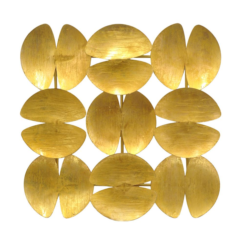 Metal Wall Decoration, Gold Metallic | Shoppingmule.com