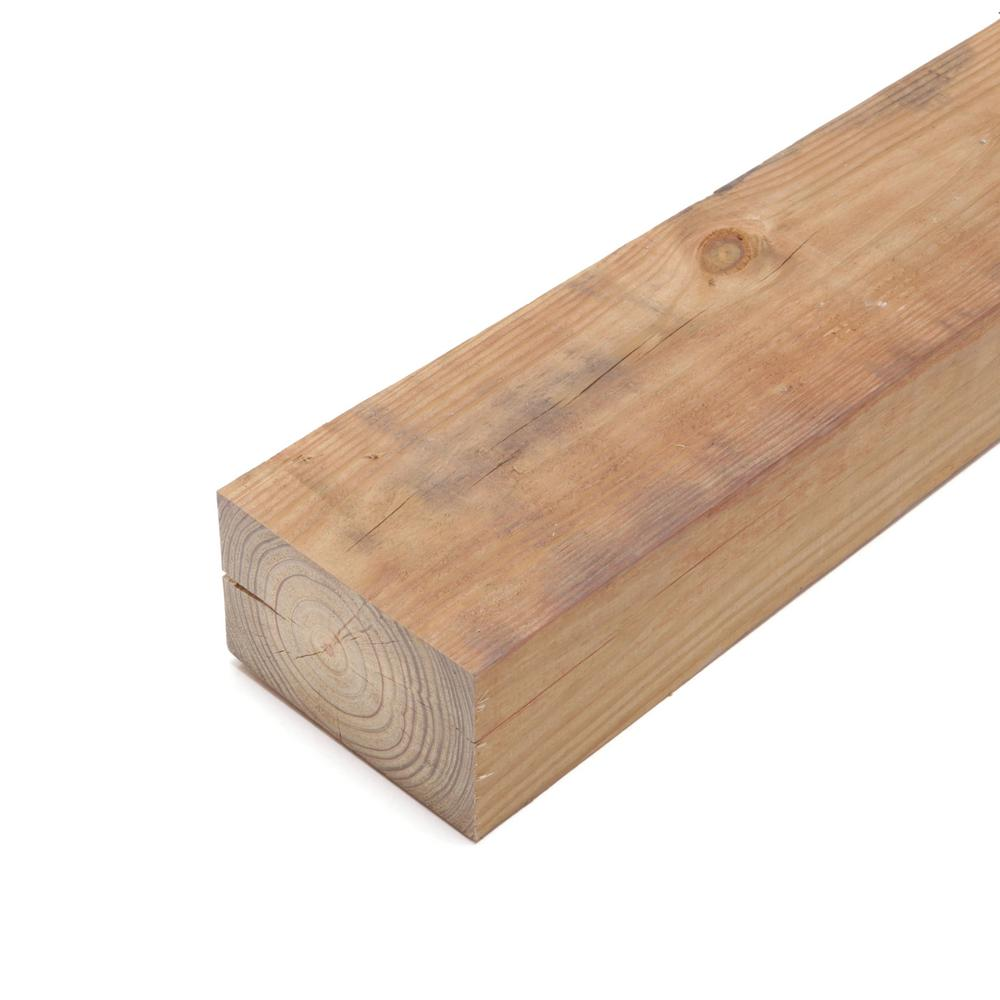 4 in. x 6 in. x 8 ft. #2 4B Ground Contact Cedar-Tone Pressure-Treated Timber