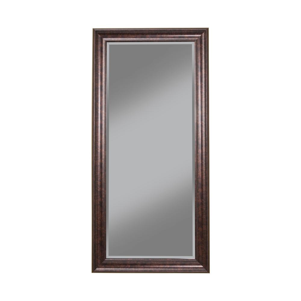 Oil rubbed bronze full length leaner floor mirror 14211 for Home mirrors
