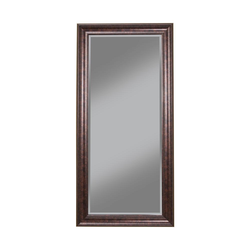 Oversized Bronze Plastic Beveled Glass Full-Length Classic Mirror (65 in. H X 31 in. W)