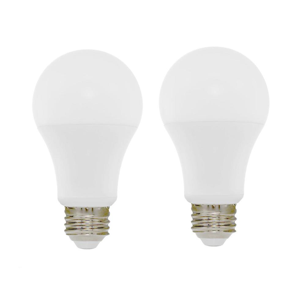 60W Equivalent Soft White A19 Dimmable LED CEC-Certified Light Bulb (2-Pack)