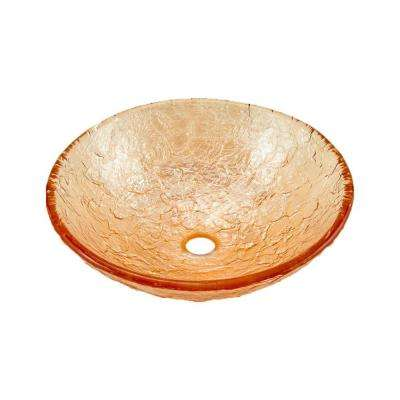 15 in. Vessel Sink in Champagne Gold