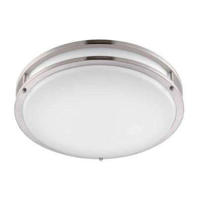 Brushed Nickel LED Round Flushmount