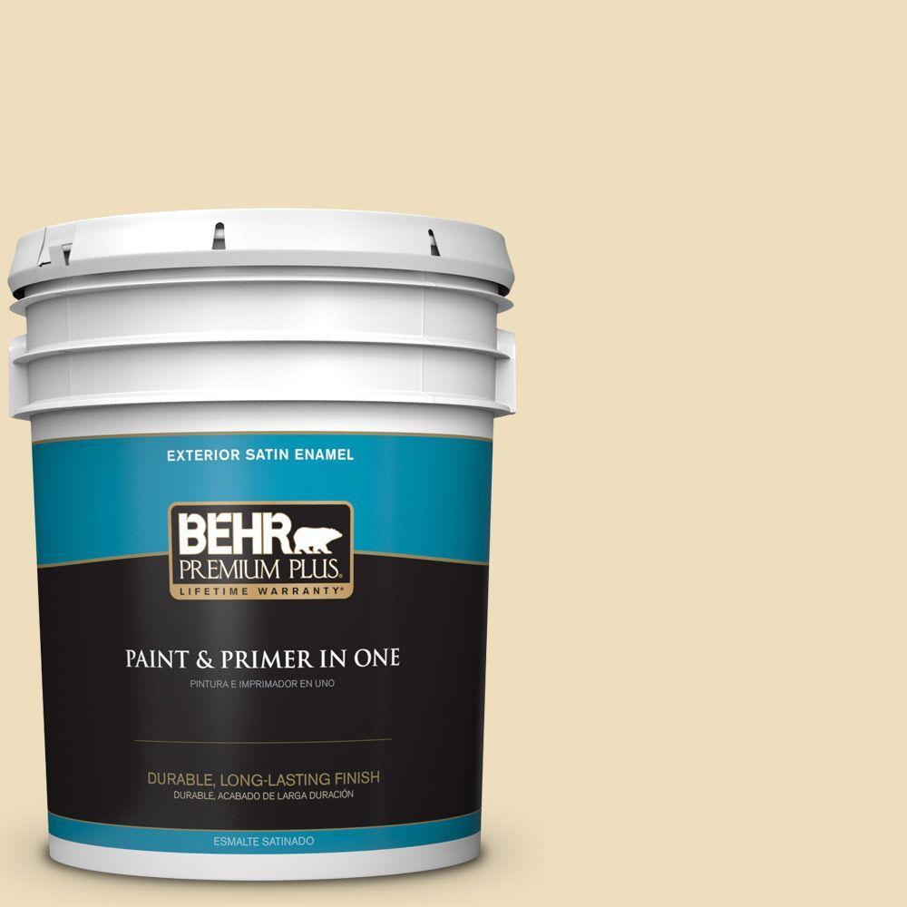 BEHR Premium Plus 5-gal. #380E-3 Satin Souffle Satin Enamel Exterior Paint