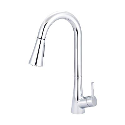 i2 Single-Handle Pull-Down Sprayer Kitchen Faucet with Bell Shaped Sprayer in Polished Chrome