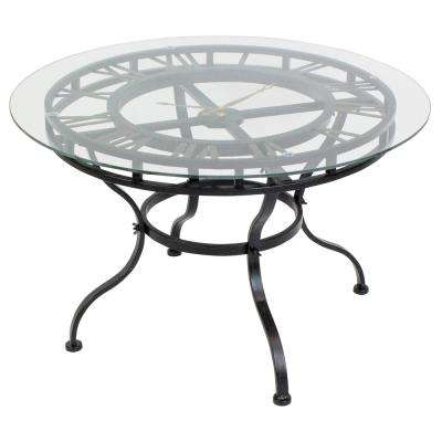 Kyndal Gray Cocktail Table with Clock