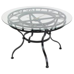 Kyndal Gray Cocktail Table with Clock by