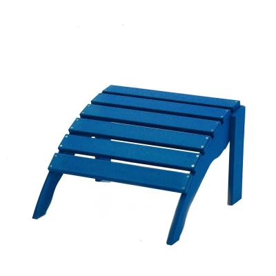 Icon Royal Blue Plastic Outdoor Ottoman