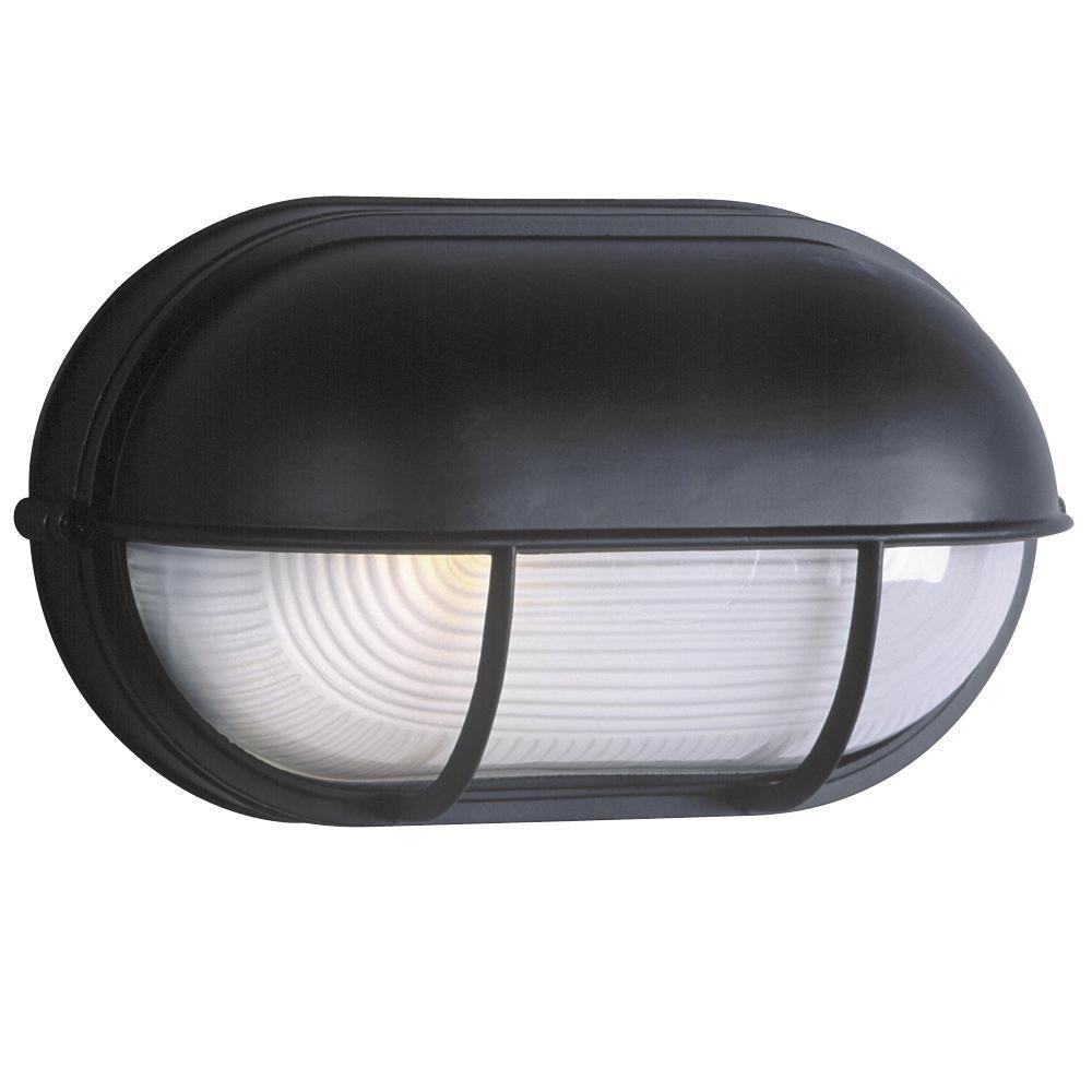 Negron 1-Light Outdoor Black Wall Light