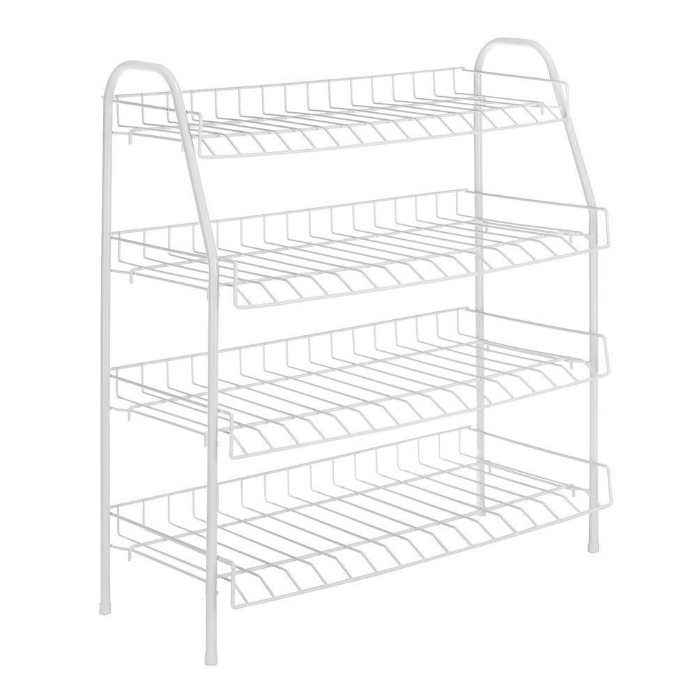 Whitmor White Wire Collection 25 in. x 27.88 in. 4-Tier Closet ...