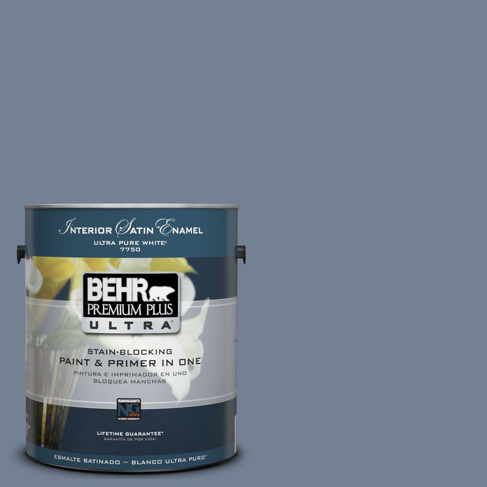 BEHR Premium Plus Ultra 1-Gal. #UL240-5 Tranquil Pond Interior Satin Enamel Paint
