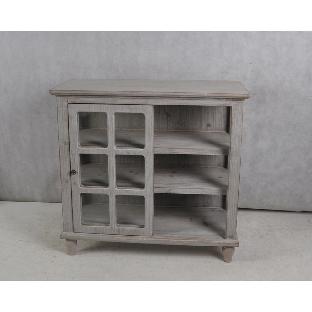 Archer Ridge Driftwood Grey Sliding Door Cabinet