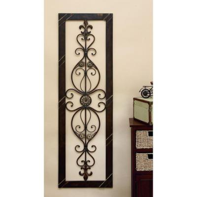 ANTIQUE BRONZE 62 IN. FLEUR DE LIS WALL DECOR