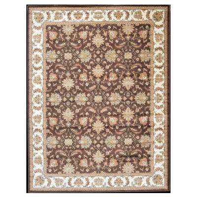 Kashan Allover Brown 5 ft. 3 in. x 7 ft. 3 in. Area Rug