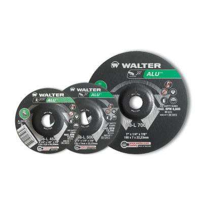 ALU 4.5 in. x 5/8-11 in. Arbor x 1/4 in. T27 GR A-24-ALU Grinding Wheel for Aluminum (10-Pack)