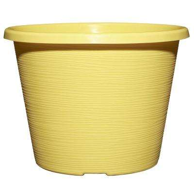 Mojave 8.5 in. Round Buttercup Resin Planter