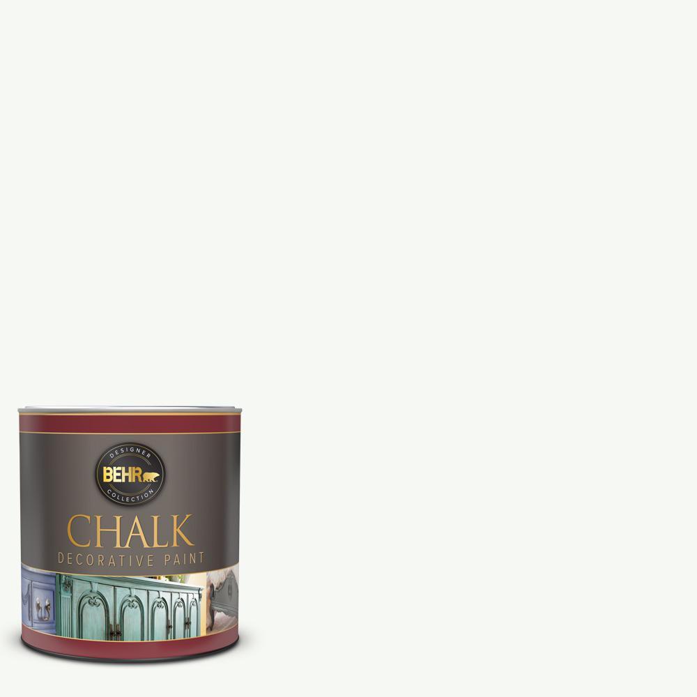 BEHR 1 qt. White Interior Chalk Finish Paint