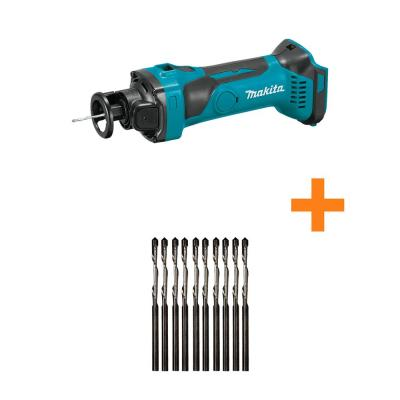18-Volt LXT Lithium-Ion Cordless Cut-Out Tool with bonus 1/8 in. Spiral Cut Out Bit Drywall Guide Tips (10-Pack)