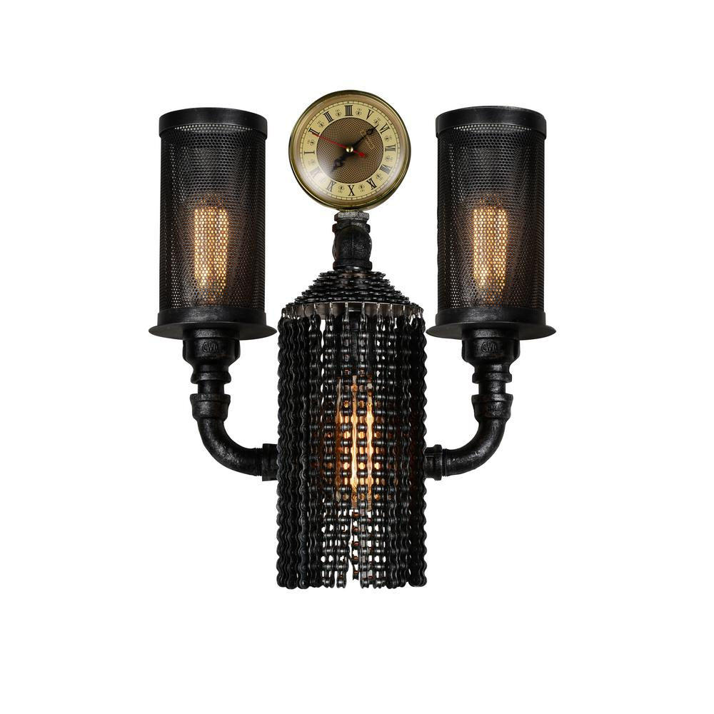 CWI Lighting Union 2-Light Gray Sconce-9739W15-2-187 - The Home Depot