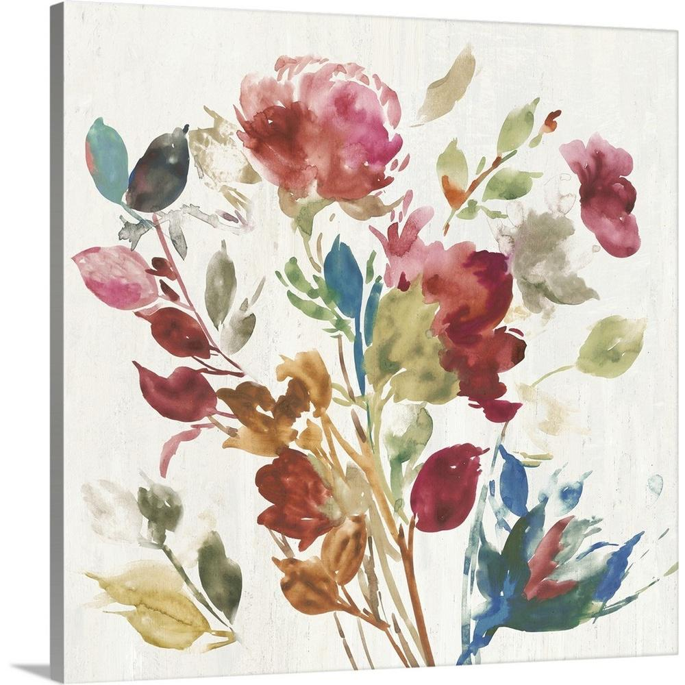 Vintage floral i by asia jensen canvas wall art