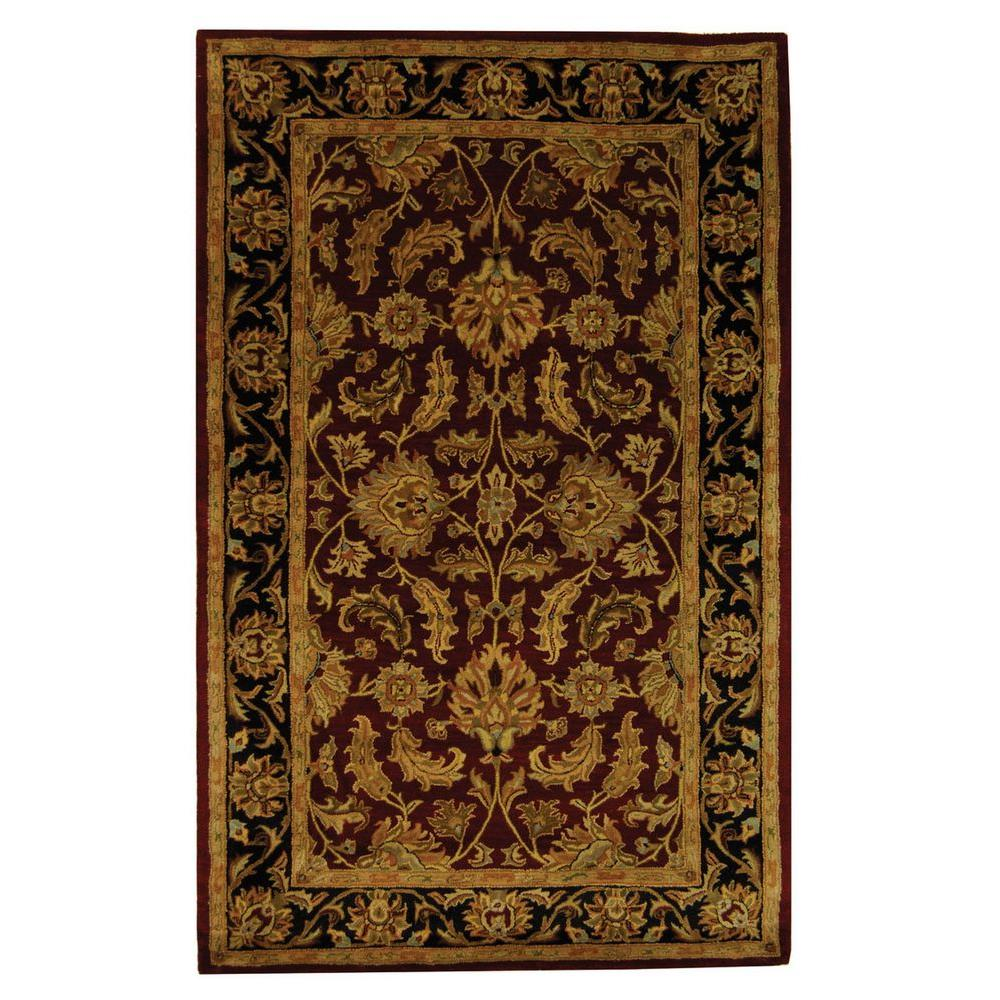 Safavieh Heritage Red Black 2 Ft 3 In X 4 Ft Area Rug