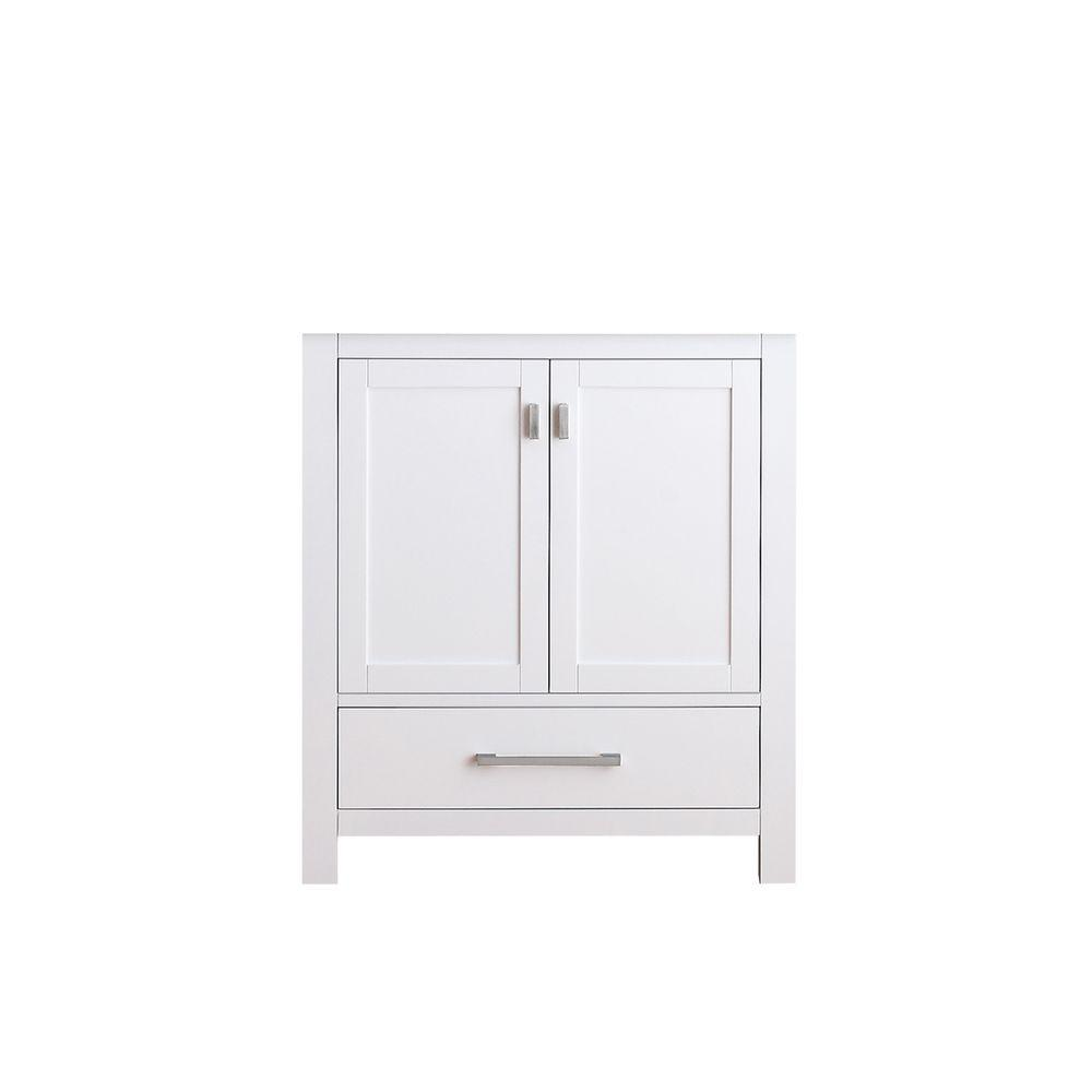 Delicieux Avanity Modero 30 In. Vanity Cabinet Only In White