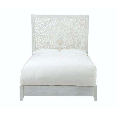 Delicieux Chennai White Wash Queen Platform Bed