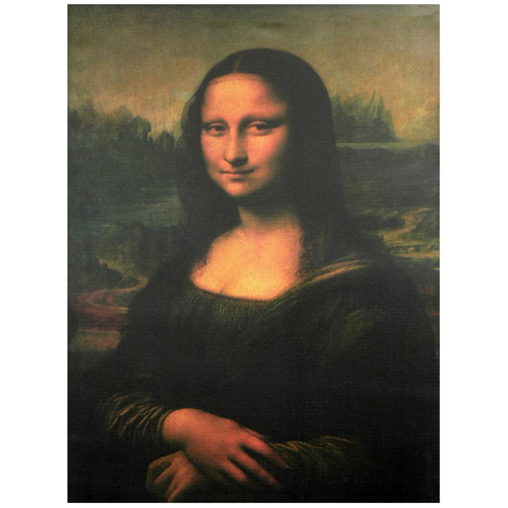"Oriental Furniture 32 in. x 24 in. ""Mona Lisa"" Canvas Wall Art"