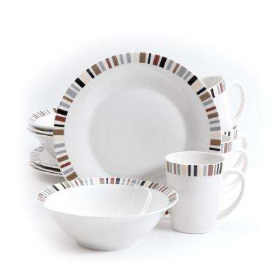 Lanvale 12-Piece White Dinnerware Set