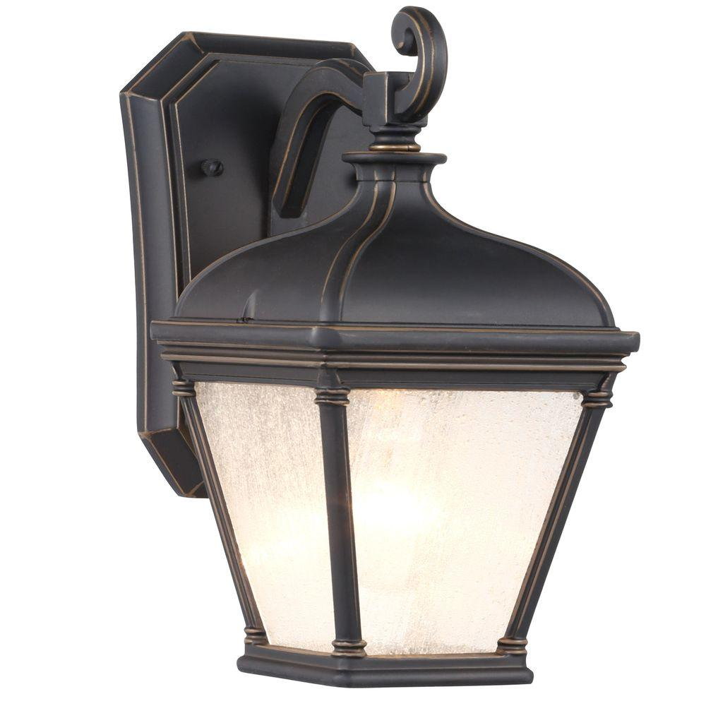 Hampton Bay Malford Dark Rubbed Bronze Outdoor Wall Mount Lantern