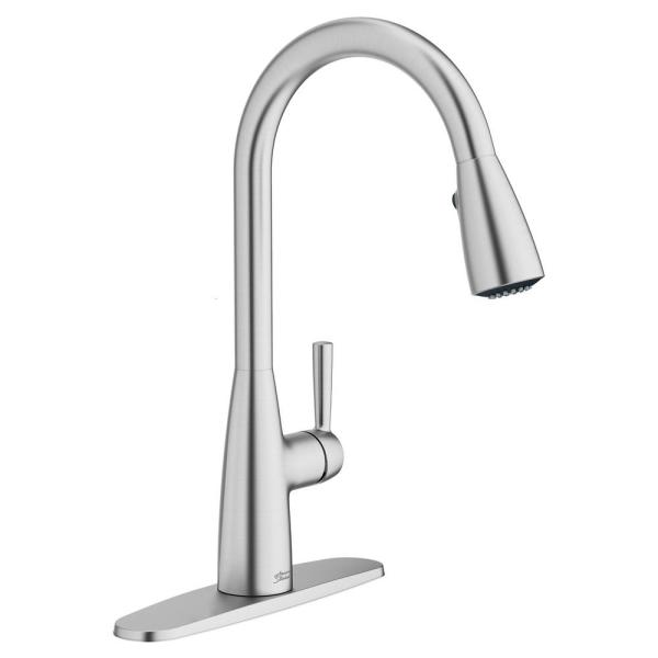 Fairbury 2S Single-Handle Pull-Down Sprayer Kitchen Faucet in Stainless Steel