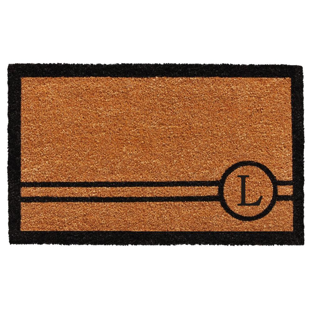 Chelsea 18 in. x 30 in. Monogram L Door Mat