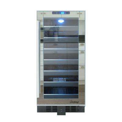 14.75 in 33-Bottle Mirrored Touch Screen Wine Cooler