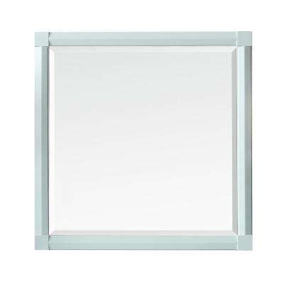 Sutton 28 in. x 28 in. Framed Wall Mirror in Rainwater