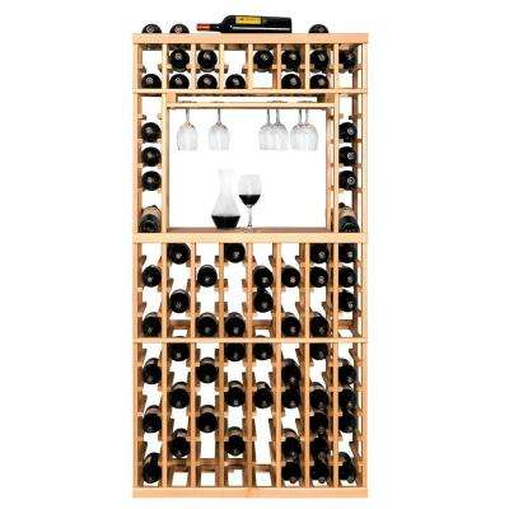 106-Bottle Pine Floor Wine Rack