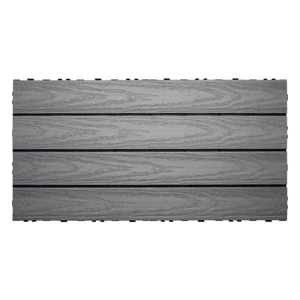 UltraShield Naturale 1 ft. x 2 ft. Quick Deck Outdoor Composite Deck Tile in Westminster Gray (20 sq. ft. Per Box)