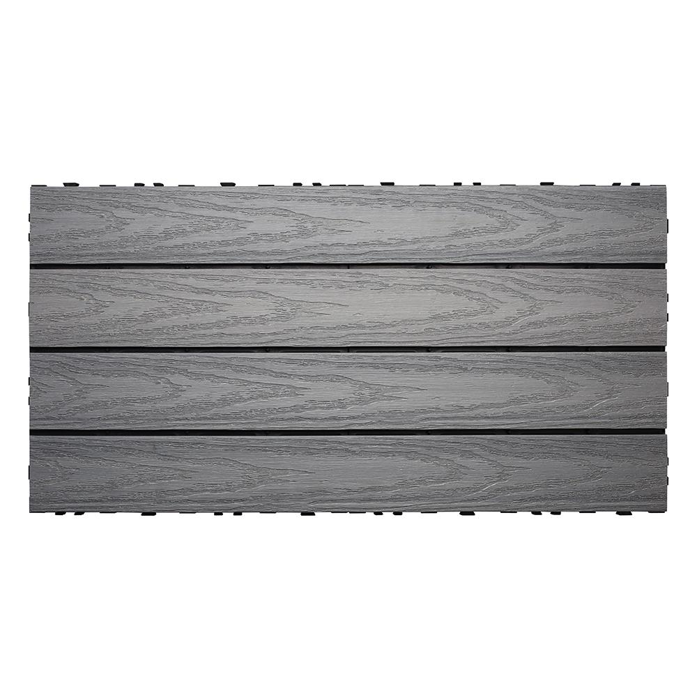 NewTechWood UltraShield Naturale 1 Ft. X 2 Ft. Quick Deck Outdoor Composite Deck Tile In