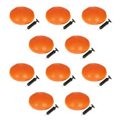 13 in. Dia PVC Fitness and Balance Disc in Orange (Set of 10)