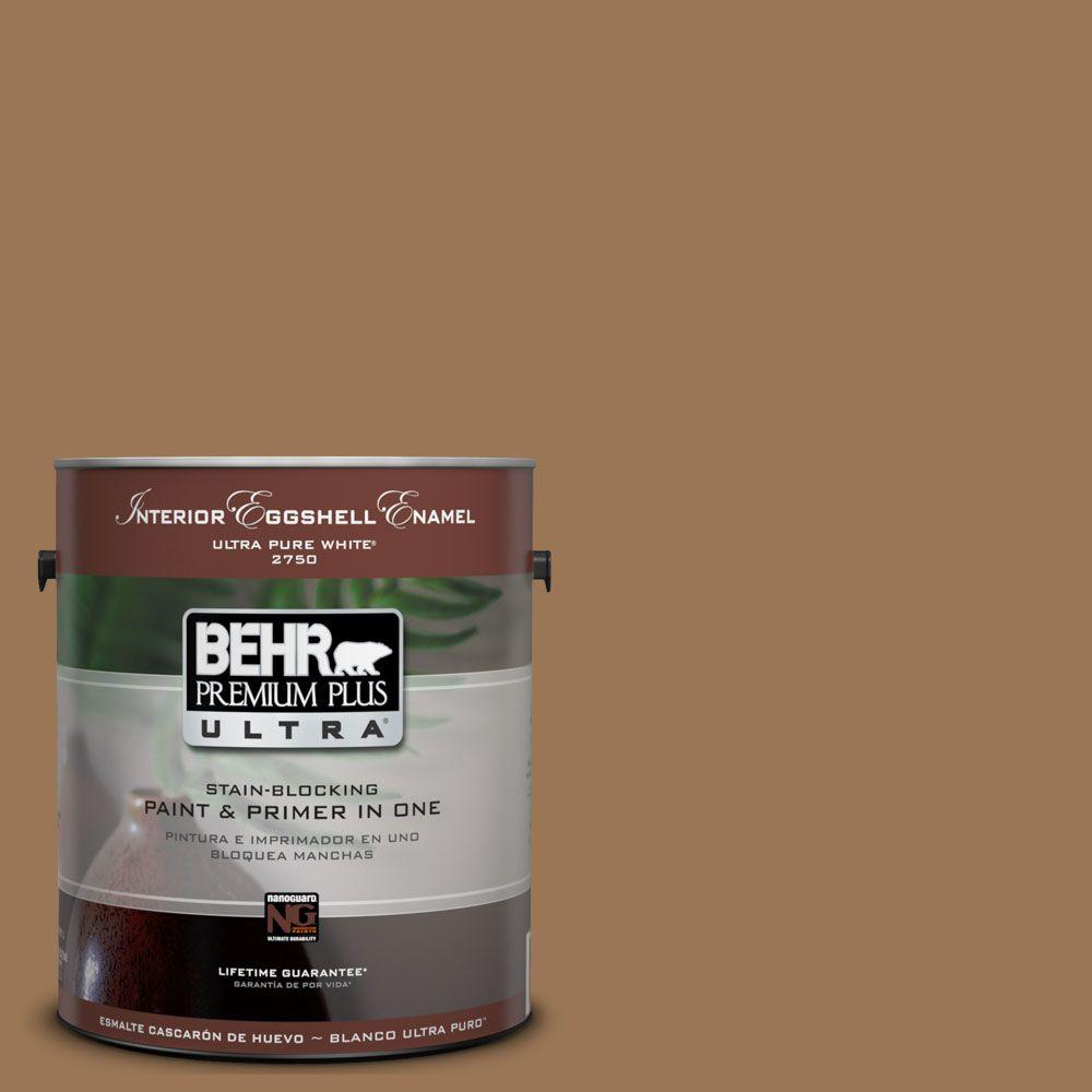 BEHR Premium Plus Ultra 1-Gal. #UL130-5 Coco Rum Interior Eggshell Enamel Paint