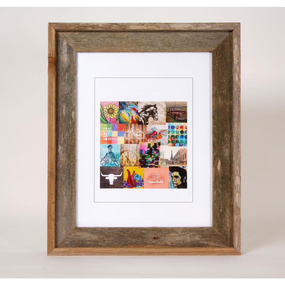 11 in. x 14 in. Rustic Reclaimed Barnwood Picture Frame