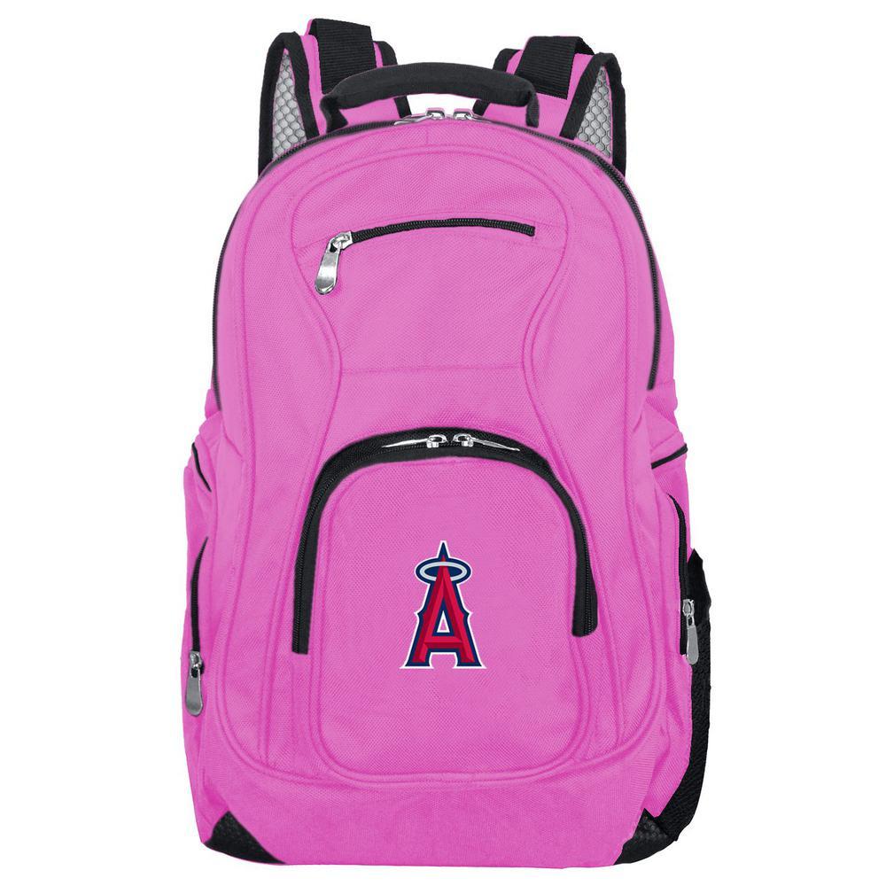 MLB Los Angeles Angels 19 in. Pink Backpack Laptop