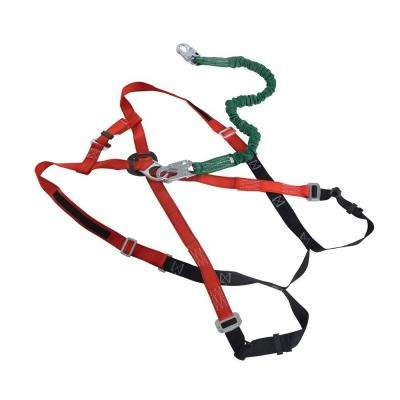 Extra-Extra-Extra Large Harness with Lanyard for Work Platform