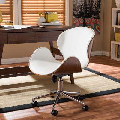 Bruce White Faux Leather Upholstered Office Chair